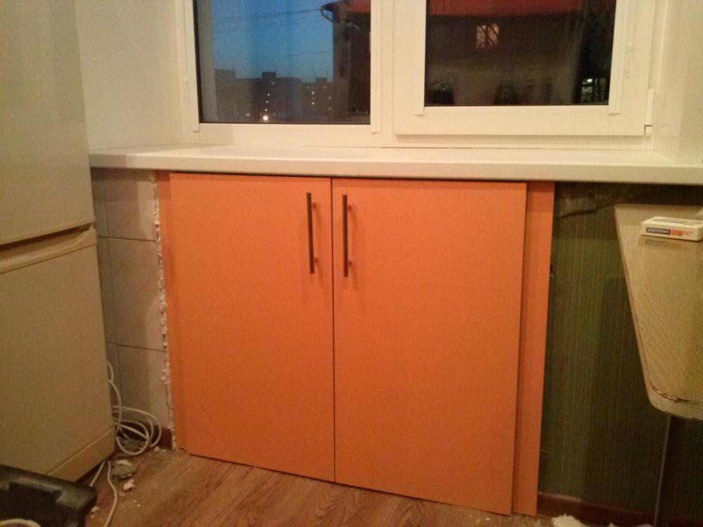 хочу предложить шкафчик под окном на кухне фото квадратик теста